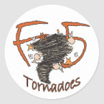 Tornados F5 Etiqueta Redonda