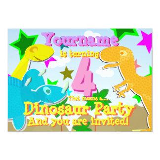 Torneado de 4 invitaciones de la fiesta de invitación 12,7 x 17,8 cm