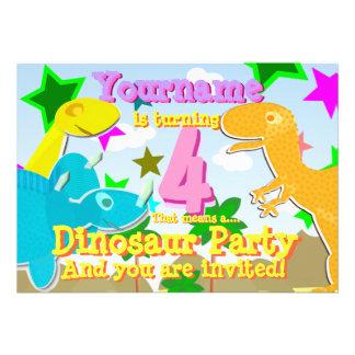 Torneado de 4 invitaciones de la fiesta de cumplea