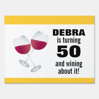 Torneado de 50 y el Wining con las copas de vino