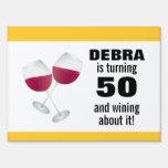 Torneado de 50 y el Wining con las copas de vino r
