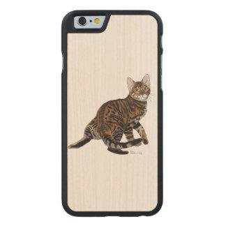 Torneado de Toyger Funda De iPhone 6 Carved® Slim De Arce