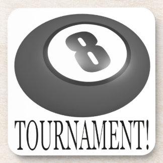 Torneo 2 de 8 bolas posavasos de bebidas