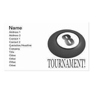 Torneo 2 de 8 bolas tarjetas de visita