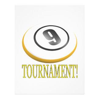 "Torneo de 9 bolas folleto 8.5"" x 11"""