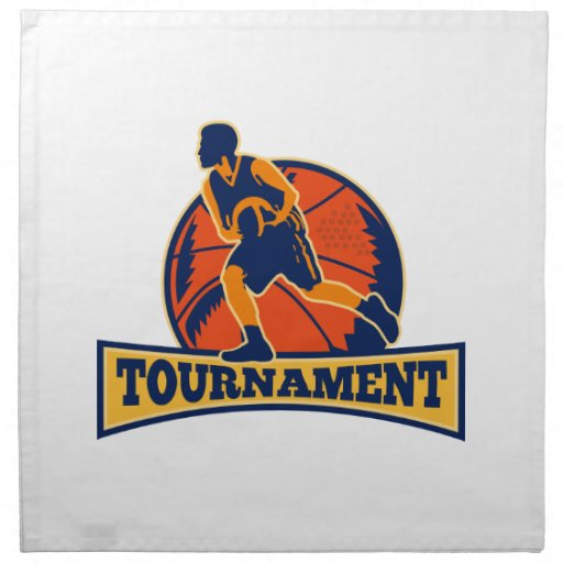 Torneo de goteo de la bola del jugador de básquet  servilletas