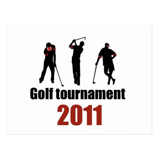 Torneo del golf - ROJO Tarjeta Postal