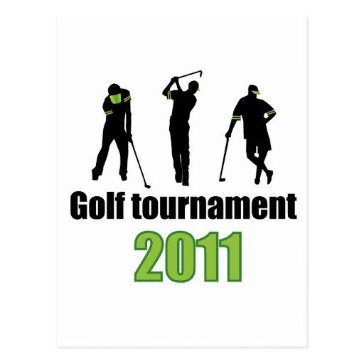 Torneo del golf - VERDE Tarjeta Postal