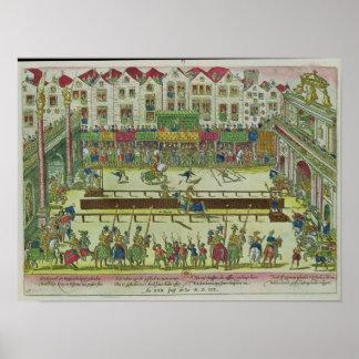 Torneo durante qué Enrique II Póster