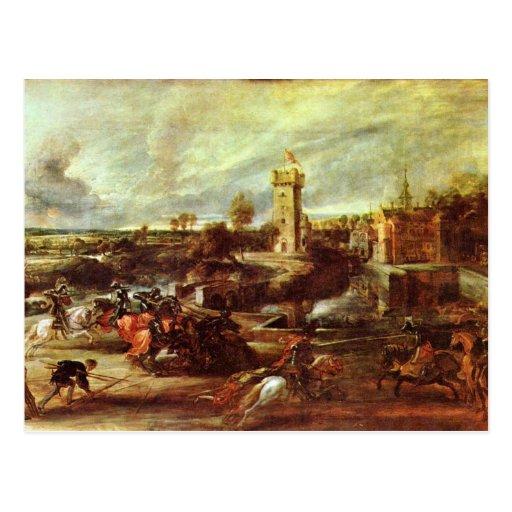 Torneo en un castillo de Rubens Peter Paul Tarjeta Postal