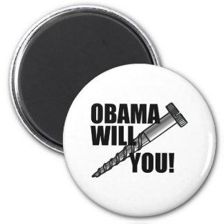 Tornillo de Anti-Obama usted Imán Redondo 5 Cm