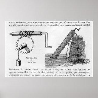Tornillo de Arquímedes Posters