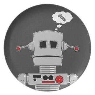 Tornillo del robot platos para fiestas