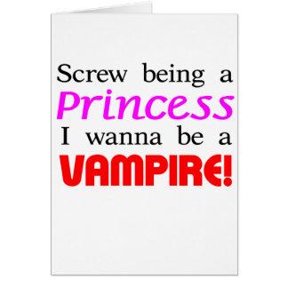 Tornillo que es un vampiro tarjeta
