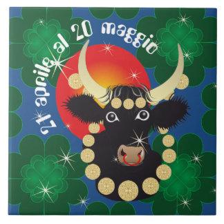 Toro 21 al 20 Tiles Aprile maggio Azulejo Cuadrado Grande