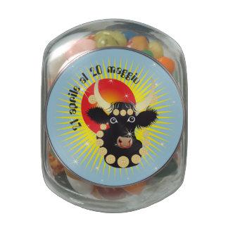 Toro 21 April Al 20 maggio Bomboniera Glass Jars