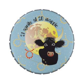 Toro 21 April Al 20 maggio Bomboniera Jelly Belly Tins