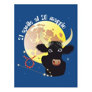 Toro 21 April Al 20 maggio Cartolina Postcard