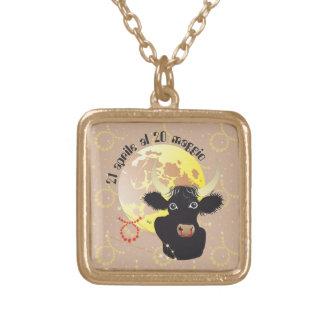 Toro 21 April Al 20 maggio Collana Gold Plated Necklace