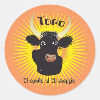 Toro 21 April Al 20 maggio Etichetta Classic Round Sticker