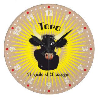 Toro 21 April Al 20 maggio Orologio Large Clock