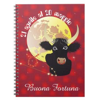 Toro 21 April Al 20 maggio Taccuino Notebook