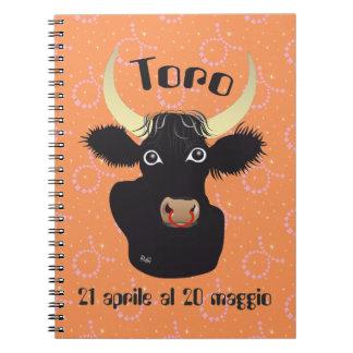 Toro 21 April Al 20 maggio Taccuino Note Book
