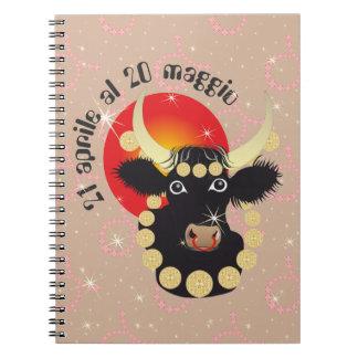 Toro 21 April Al 20 maggio Taccuino Spiral Notebook