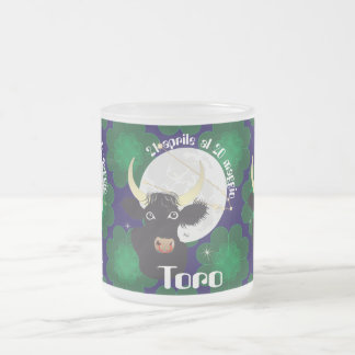Toro 21 April Al 20 maggio Tazze Frosted Glass Coffee Mug