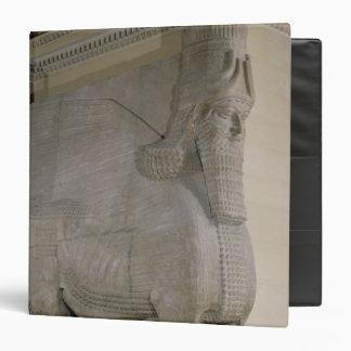 """Toro con alas en una fachada de rey Sargon II Carpeta 1 1/2"""""""