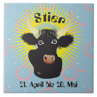 Toro el 21. abril hasta 20. El mayo baldosa Azulejo Cuadrado Grande