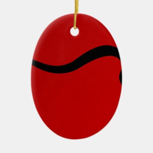 Toro negro en rojo ornamentos de reyes magos