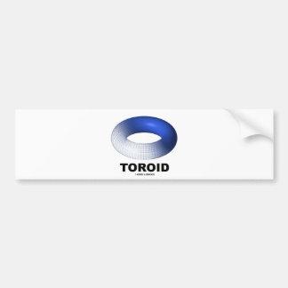 Toroid (Blue Torus) Car Bumper Sticker
