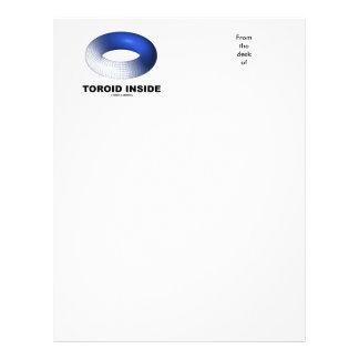Toroid Inside (Blue Torus) Letterhead