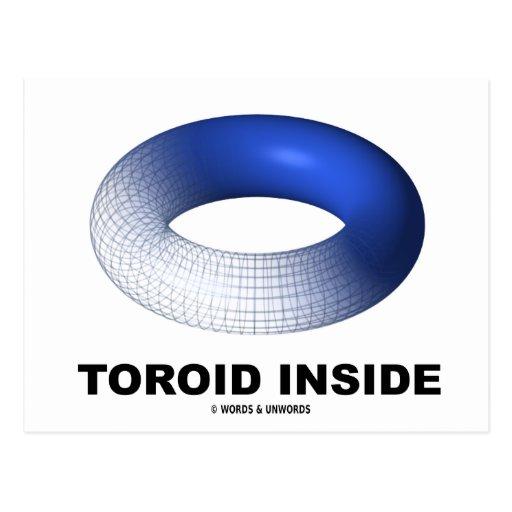 Toroid Inside (Blue Torus) Postcard
