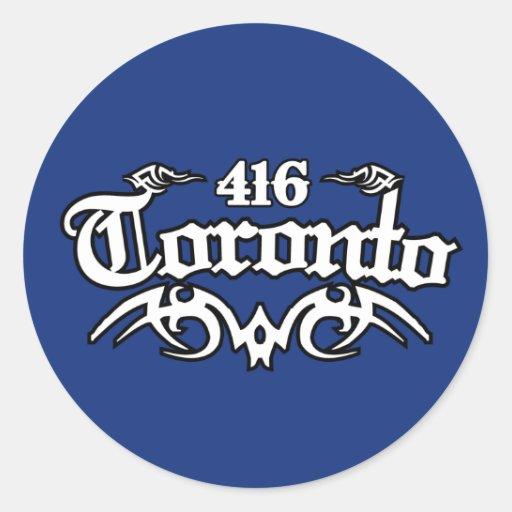 Toronto 416 pegatina redonda