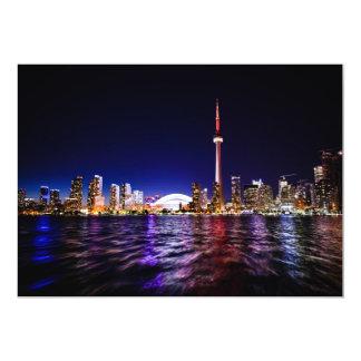 toronto-698496 TORONTO CITY SCENERY LAKE SKYSCRAPE 5x7 Paper Invitation Card