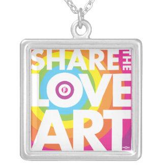 Toronto Art Visions CHARM Square Pendant Necklace