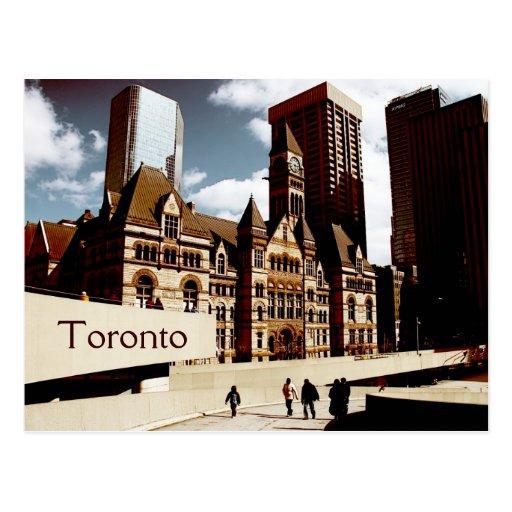 Toronto, ayuntamiento viejo tarjeta postal