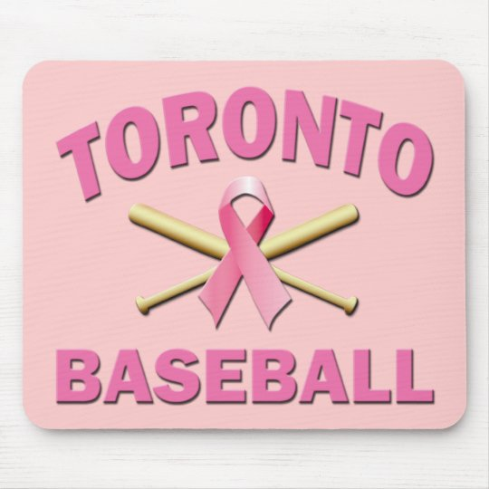 TORONTO BASEBALL PINK RIBBON MOUSE PAD