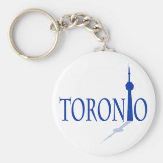 Toronto Basic Round Button Keychain