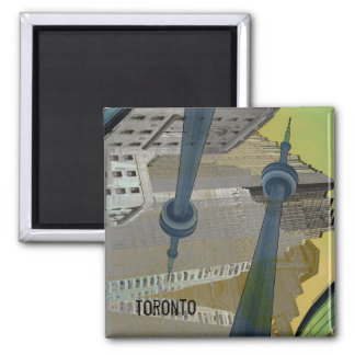 Toronto buildings with CN tower magnet