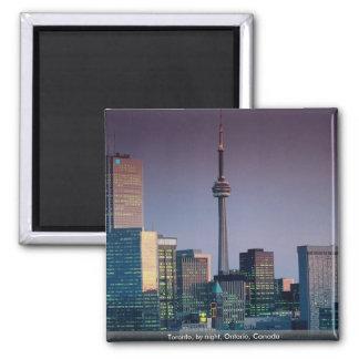 Toronto by night Ontario Canada Fridge Magnets