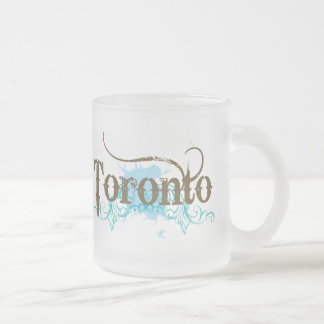 Toronto Canada Frosted Glass Coffee Mug