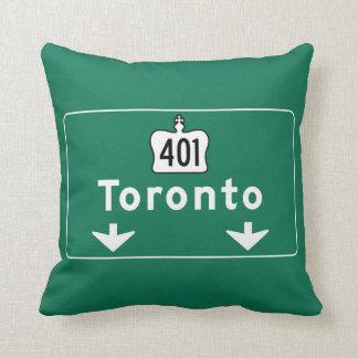 Toronto, Canada Road Sign Pillow