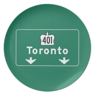 Toronto Canada Road Sign Plate