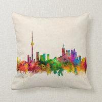 Toronto Canada Skyline Throw Pillow