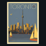 "Toronto, Canada | Skyline with Sailboats Postcard<br><div class=""desc"">Anderson Design Group is an award-winning illustration and design firm in Nashville,  Tennessee. Founder Joel Anderson directs a team of talented artists to create original poster art that looks like classic vintage advertising prints from the 1920s to the 1960s.</div>"