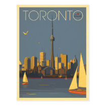 Toronto, Canada | Skyline with Sailboats Postcard