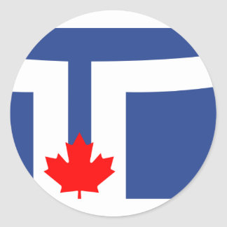 Toronto, Canada Round Stickers